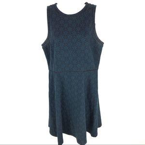 Ann Taylor Loft Women's Blue Dress 12